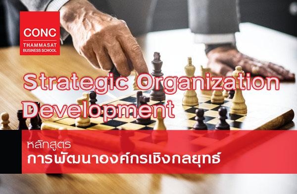 หลักสูตร Strategic Organization Development:  การพัฒนาองค์กรเชิงกลยุทธ์