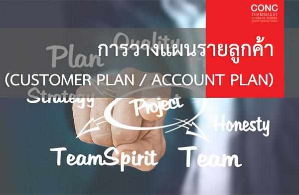 โครงการ ''การวางแผนรายลูกค้า (Customer Plan / Account Plan)''